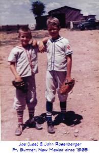 JoeAndJohnRosenbergerLittleLeague1965